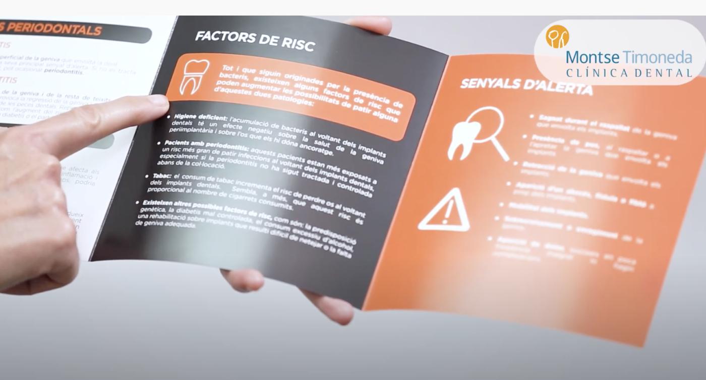 mantenimiento de implantes dentales | folleto guía que entregamos