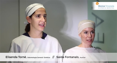 Elisenda y Saida, del team clinica dental Montse Timoneda