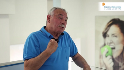 testimonial implantes dentales Tarragona, Antonio